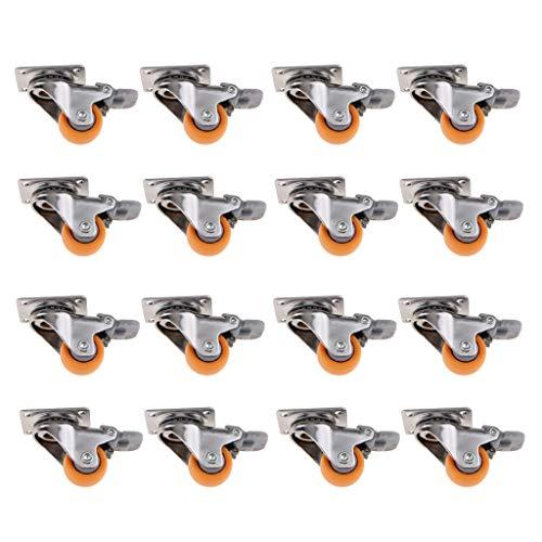 gazechimp 16 Unids 1 Pulgada Ruedas Giratorias, Este Tipo de Rueda Giratoria Se USA Principalmente para Carros de Compras, Piezas de Muebles