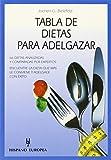 Tabla de dietas para adelgazar (Tablas de alimentos)
