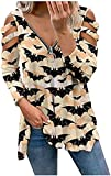 Suéter casual de cuello en V para mujer con cuello en V y cuello...