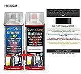 Kit Spray Pintura Coche Aerosol PAE PHANTOM BLACK MET. - Kit de retoque de pintura carrocería en spray 400 ml producido por VerniciSpray