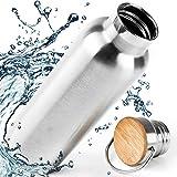 Bouteille d'eau réutilisable isotherme en inox Pure Design 1 litre