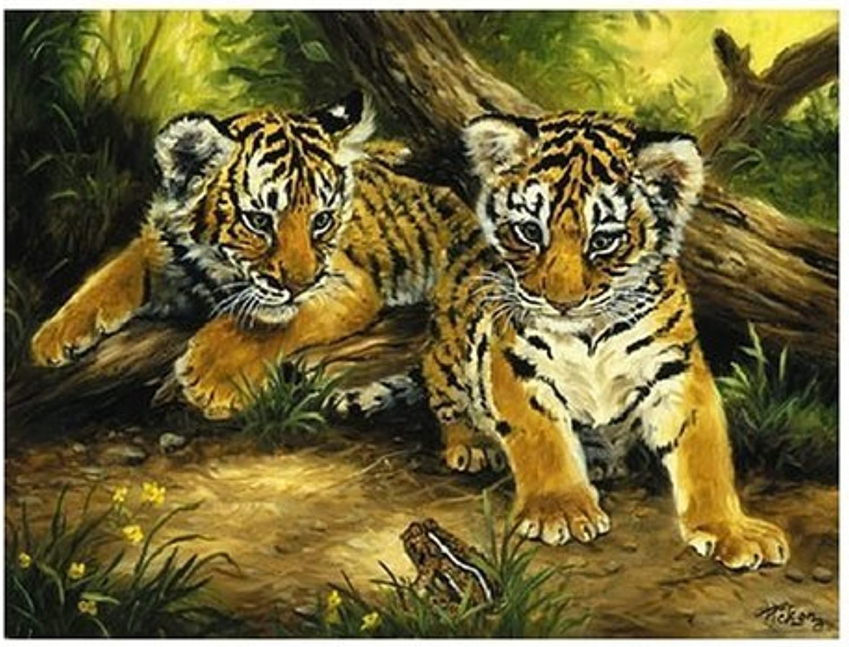marca famosa Sunsout Sunsout Sunsout Tiger Cubs 300 Piece Jigsaw Puzzle by Sunsout  artículos novedosos