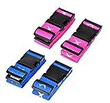4-Stück Large Kofferband Koffergurte Blau Koffer Identifikation -Blu&Pink