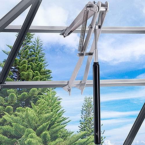 YOMERA Apriscatole automatico, struttura a doppia molla per capanno da giardino, serre e ventilatore da tetto, alzacristalli in alluminio, portata fino a 15 kg