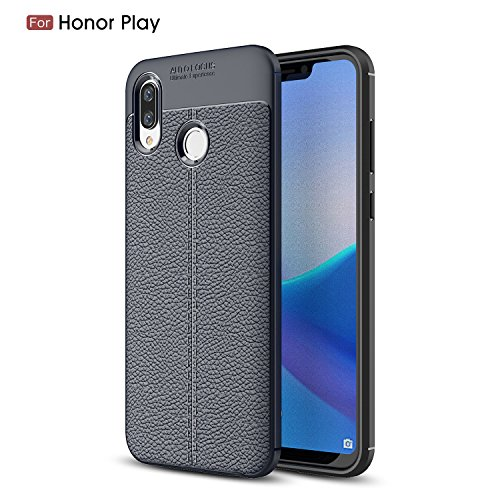 CruzerLite Honor Play Custodia, Flexible Slim Case with Leather Texture Grip Pattern and Shock Absorption TPU Cover for Huawei Honor...