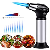 Butane Torch, ideapro Cooking Torch Refillable Adjustable Flame Kitchen Torch for Chef Baking, BBQ,...