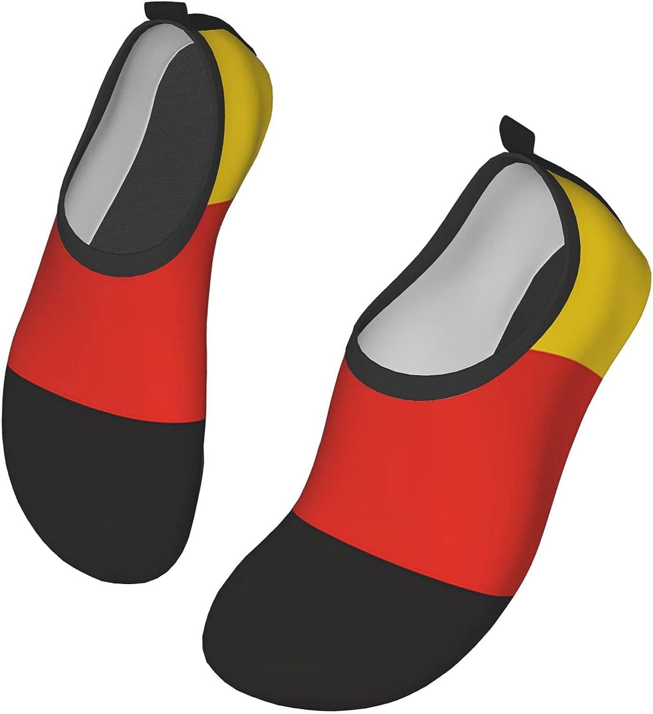 VEIMER Flag Germany Water Shoes for Women Men Outdoor Beach Swimming Aqua Socks Barefoot Quick-Dry Slip-on Surfing Yoga Shoes