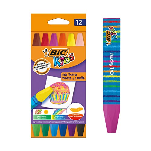 BIC Kids Oil Pastel Crayons 12 Pack