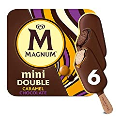 Magnum Mini Double Chocolate/ Double Caramel Multipack Ice Cream Stick, 60ml - Frozen