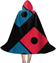 Kids Cape Cloak with Hood Dominos Pizza Unisex Magic Christmas Halloween Witch Party Hooded Vampires Wedding Cape Cloak