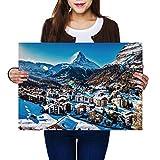 Destination Vinyl Poster A2   Zermatt Matterhorn