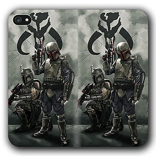 Funda iPhone 6 Plus & Funda iPhone 6S Plus Anti-Shock TPU Flip Leather Case Sta r WA RS Ma nD La lO Ria n G-1511