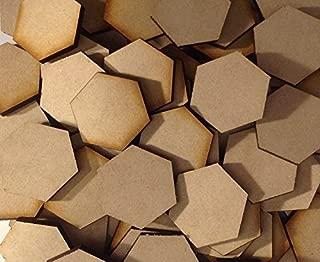 Memoir 44 Hex Tile Blanks 5 Pack Laser Cut MDF FAST SHIPPING