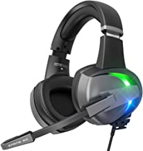 $28 » BENGOO GM7 Gaming Headset Headphones for PS4, Xbox One, PC Controller Surround Sound Over Ear Headphones with Noise Canceling Microphone, LED RGB Light On-Line Volume for Laptop Mac PS3 (Black)