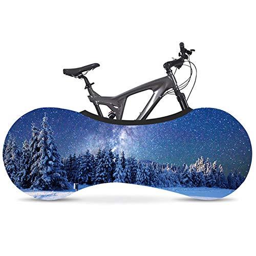 Funda Bicicleta Serie escénica cubierta de polvo de bicicleta Tela Elástica Bicicleta de carretera Tapa protectora de neumáticos de interior 700C 26 '-28' Accesorios de bicicleta Ciclismo Accesorios