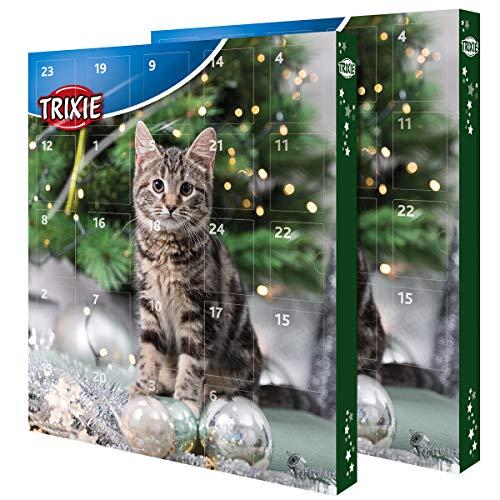 TRIXIE Adventskalender für Katzen mit diversen Leckereien im Doppelpack