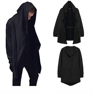 Muzboo - Cárdigan con capucha para hombre, color negro