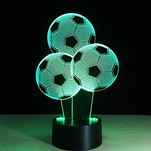 YHSM 7 farben ändern 3d illusion fußball fußball nachtlicht 3d virtuelle licht schreibtisch fußball lampe weihnachtsgeschenk