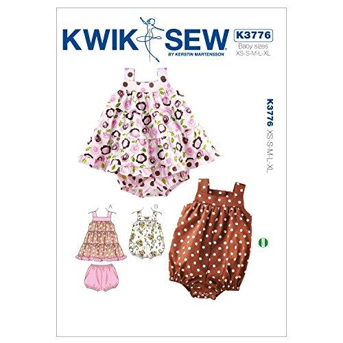 Kwik Sew Mustern K3776Größe XS/S/M/L/XL Kleid/Pluderhose und Strampler, weiß, 1Stück