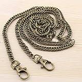 QINQ 120 CM Bolsa de Metal sólido Cinturones Bolsa Cadena Bolso Bolsos de Hombro Correas Asa de Hebilla Negro Oro Plata Accesorios de cinturón, Oro Profundo