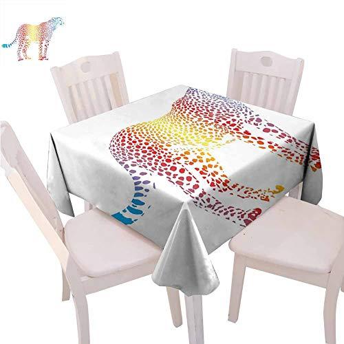 Nappe carrée avec citation « Make Today » inspirante « Make Today » colorée aquarelle Fond aquarelle facile à nettoyer – Rouge violet/blanc, Polyester, Couleur 09, 60 x 60 inch