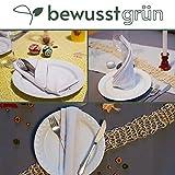 BewusstGrün I 12 Faire & Nachhaltige Stoffservietten I 100% Bio-Baumwolle I 45x45 cm Grau - 5