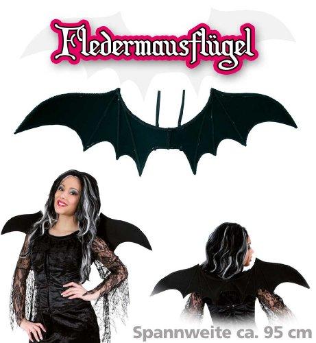 FASCHING 57958 Fledermaus-Flügel Halloween schwarz NEU/OVP