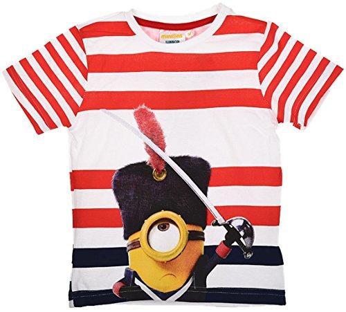 Minions Ich einfach Unverbesserlich T-Shirt in Rot gestreift Gr. 98