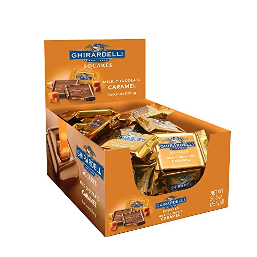 Ghirardelli Milk & Caramel Chocolate Squares, 0.53 Ounce, 50 count