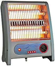 Usha Quartz Room Heater (3002) 800-Watt with Overheating Protection (Ivory),USHA International LTD,QH 3002