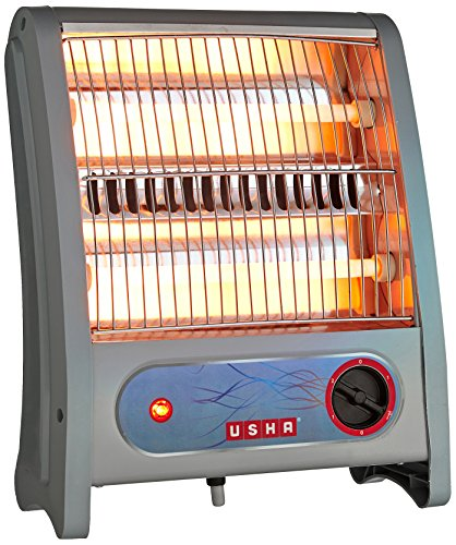 Usha Quartz Room Heater (3002) 800-Watt with Overheating Protection (Ivory)