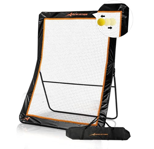 ACELETIQS Lacrosse Rebounder for Backyard 5x7 Feet Baseball Rebounder Practice Net Screen- Pitchback, Throwback, Bounce Back Training Wall | Portable [Carry Bag Included]
