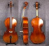 Yinfente Violoncelle acoustique 4/4 5 cordes en bois d'érable épicéa avec sac pour archet