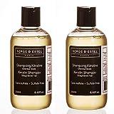 Shampoing Sans Sulfate Kératine 500ml Prolonge lissage Brésilien Japonais Cheveux Lissés Shampoing Après Lissage Restructure Protege les Cheveux Lissés Shampoing Sans Sulfate Kératine