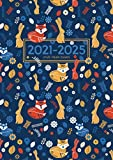 2021-2025 A4 Five Year Diary | Scandinavian Fox and Rabbit: UK Month to View Planner with UK Holidays / Moon Phases, Tabs, Birthdays (Personal Organisers and Planners, Calendars, Agendas)