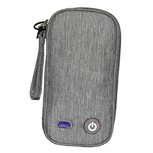 perfeclan Bolsa de desinfectante de luz UV caja de desinfección UV lámpara de desinfección de limpiador UVC para teléfono móvil, ropa interior, gafas de