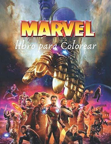 MARVEL Libro Para Colorear: +50 SIMPLE Y ALTA CALIDAD DIBUJO DE MARVEL