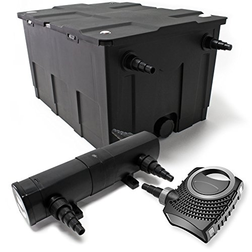 Set: Bio vijverfilter 60000l 36W UVC vijverzuiveraar 80W vijverpomp