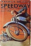 Speedway 1927 Rennplakat Replik Motorrad Blechschild 20 x 30 Retro Blech 1671