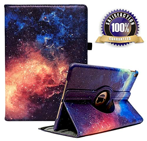 iPad 10.2 Case 2019 iPad 7th Generation Case, 360 Degree Rotating Stand Smart Case Protective Cover with Auto Wake Up/Sleep for iPad 7th Gen 10.2 Inch 2019 (A2197 A2198 A2200) (Galaxy-10.2)