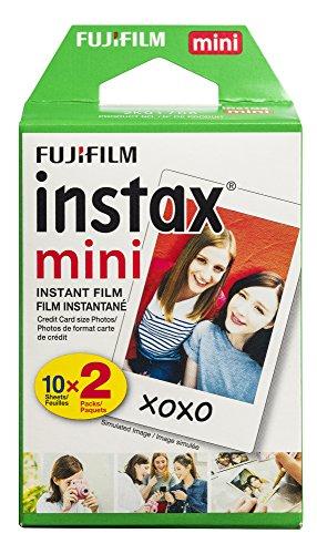 Fujifilm INSTAX Mini Instant – Película para todas las Mini cámaras Instax, Blanco