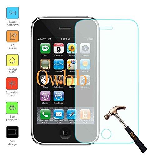 Owbb Glas Display Schutzfolie für Iphone 3G / 3GS Smartphone Screen Panzerglas Hartglas Schutzfolie