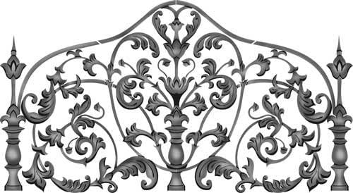 Designer Stencils We OFFer at cheap prices King Size Iron #359 Headboard Max 71% OFF SKU Wall Stencil