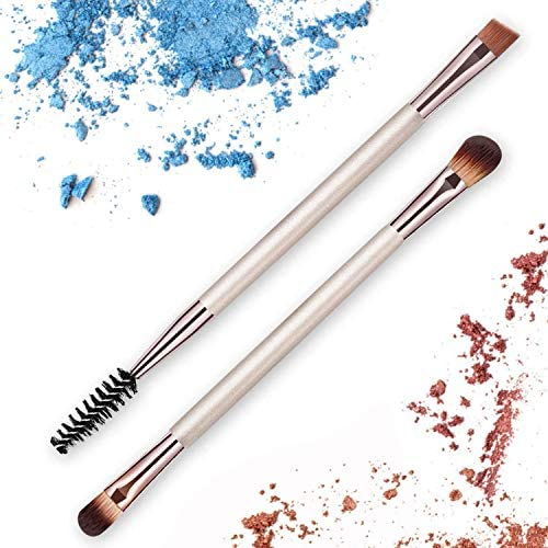 2 Pcs Double Ended Eyeshadow Brush Eyebrow and Lash Brush Set Eye Enhancing Define Blend Smudge product image