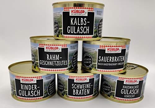 Dosen Gourmet Paket bestehend aus 6 Dosen mit verschiedenen Spezialitäten für den Kenner und Genießer