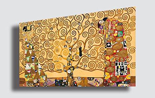 quadri moderni soggiorno interi Quadro GUSTAV KLIMT Albero della Vita 2 - RIPRODUZIONE STAMPA SU TELA Quadri Moderni Moderno Arte Astratto Cucina Soggiorno Camera da letto printerland.it (50x70 cm)