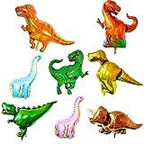 O-Kinee Ballon de Dinosaure,8 pcs Dinosaure Animal Ballons Dinosaurs Ballons Helium,Ballon de Dinosaures pour la Fête d'anniversaire Dinosaure Fête du Style Jungle (8 pcs)