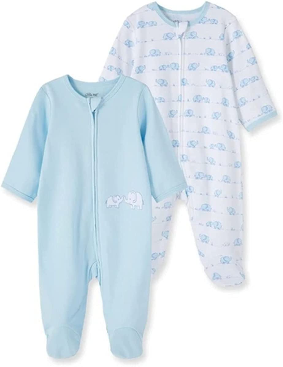 LITTLE ME BABY BOYS 2 ! Super beauty product restock quality top! OF Year-end annual account SLEEPERS PARK PACK ELEPHANT