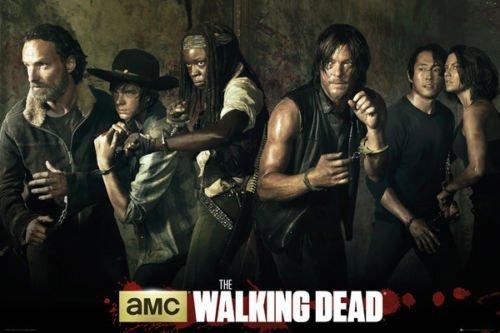 makeuseof 24X36 INCH/Art Silk Poster/The Walking Dead - TV Show Poster/Print (Season 5 CAST)