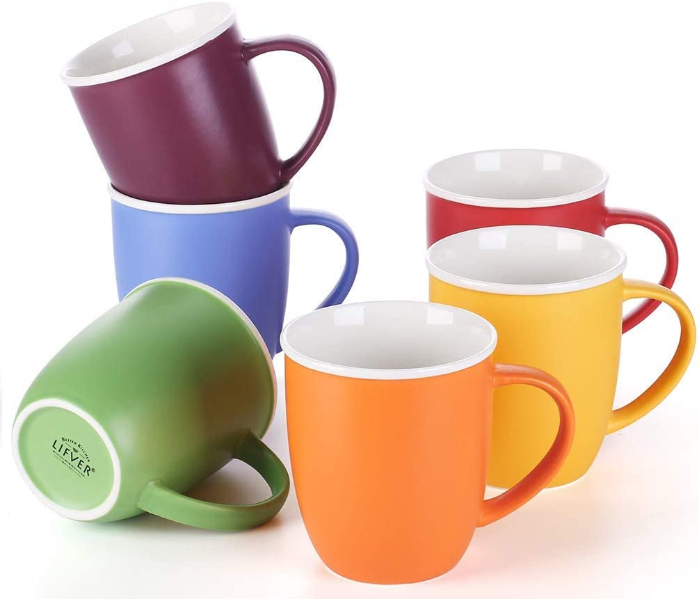 Max 54% OFF LIFVER 18 Ounces Coffee Mugs Cups Branded goods Large Porcelain T for